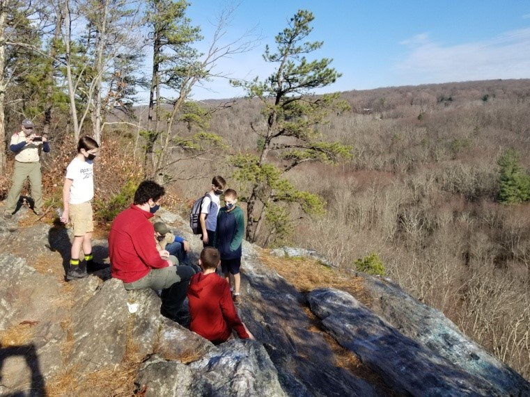 Boy Scouts at Valley Falls